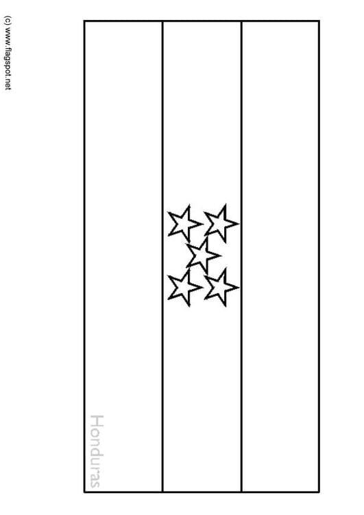 Coloring Page Flag Honduras Img 6356 Honduras Flag Coloring Page