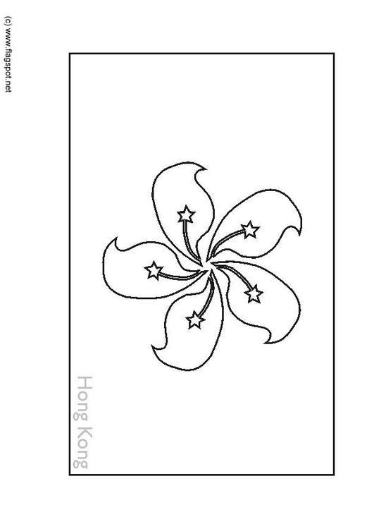 Coloring Page Flag Hong Kong Img 6280