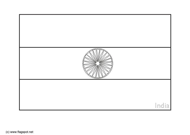 Coloring page flag India