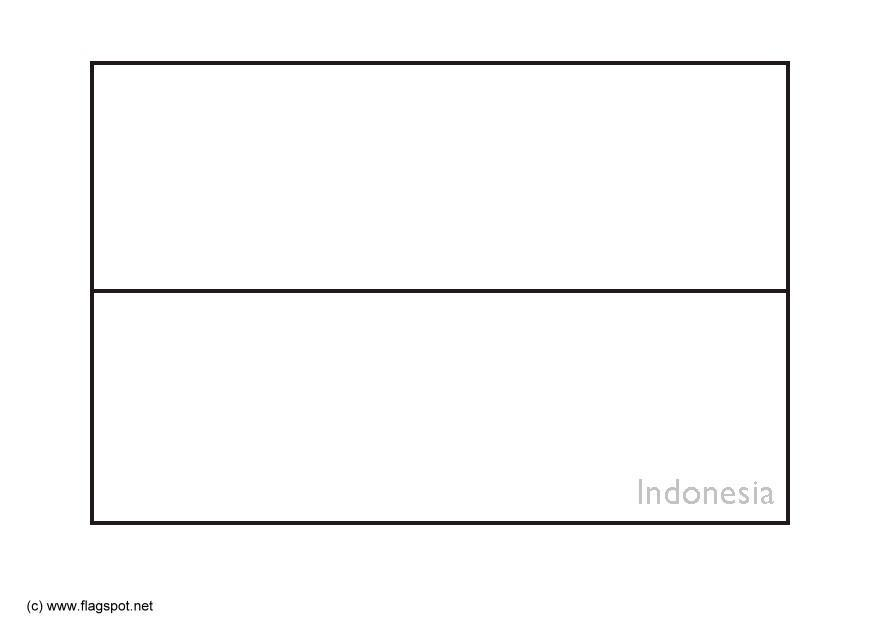 indonesian flag. Coloring page flag Indonesia