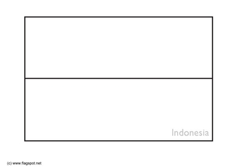 Coloring page flag Indonesia