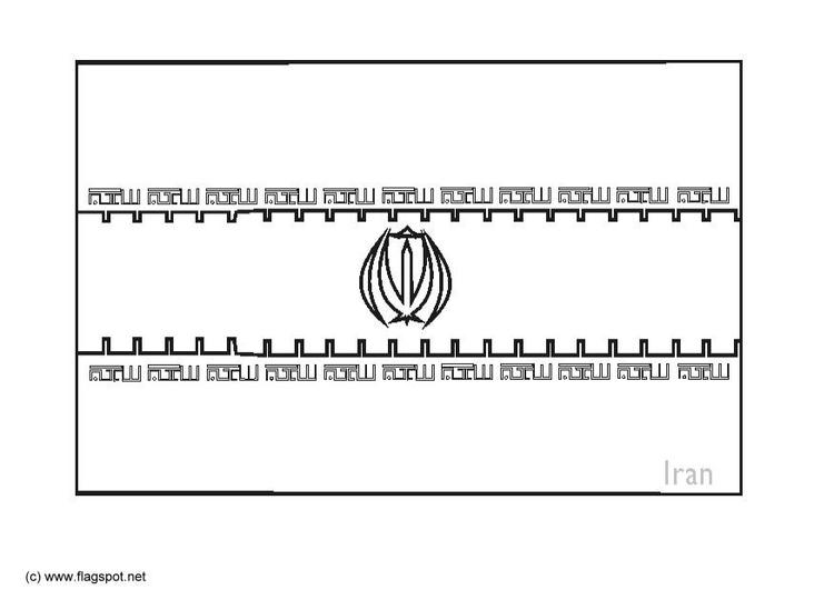 iran flag coloring page coloring page flag iran img 6284