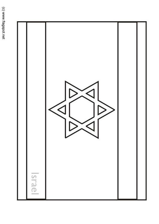Coloring page flag israel img 6285 for Flag of israel coloring page