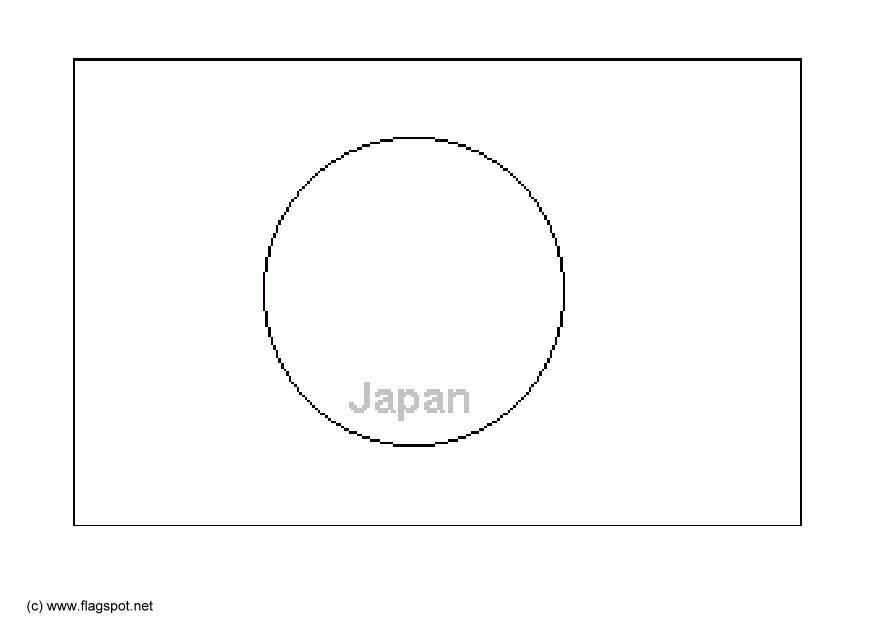 Coloring page flag Japan img 6286