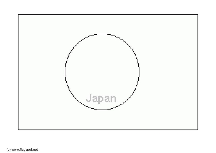 Coloring page flag Japan