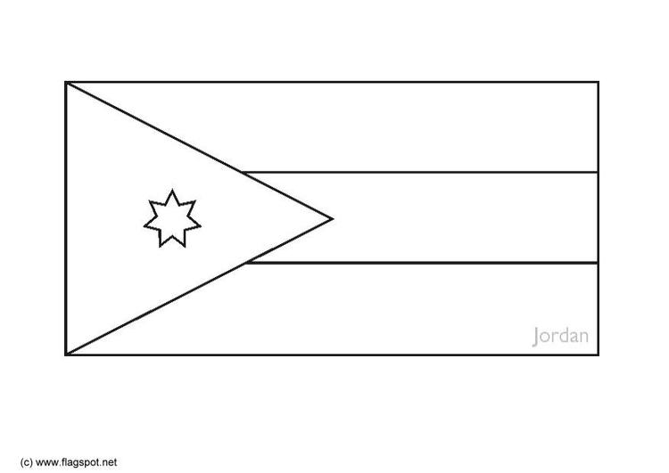 Jordan Flag Coloring Page