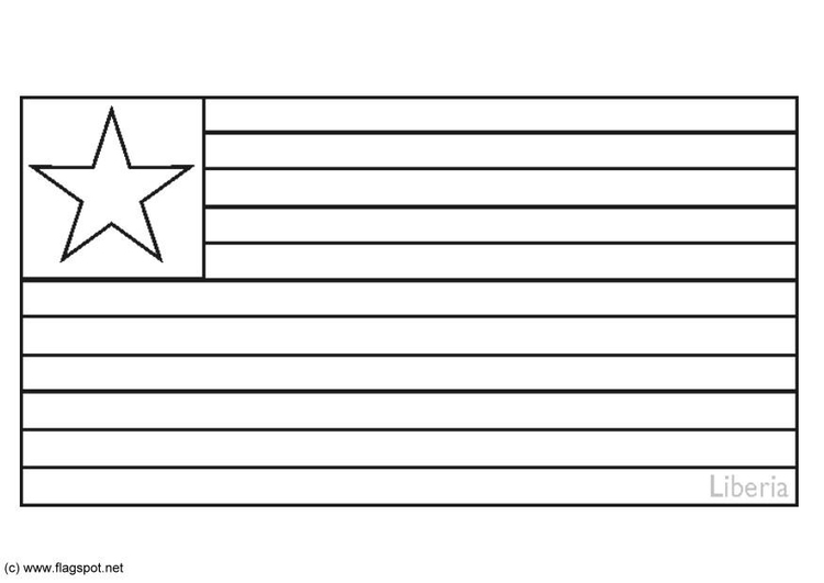 Coloring page flag Liberia