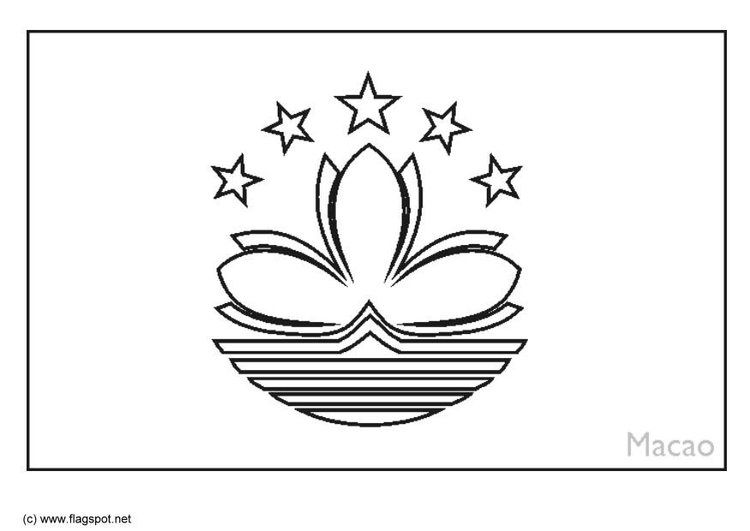 Coloring page flag Macao