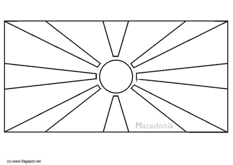Coloring Page Flag Macedonia