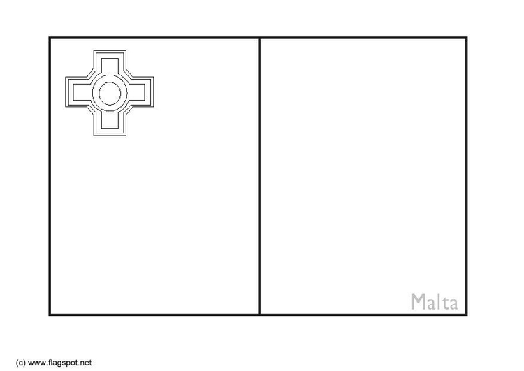 Coloring page flag Malta