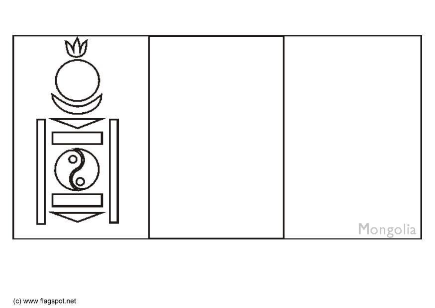 Coloring Page Flag Mongolia Img 6297