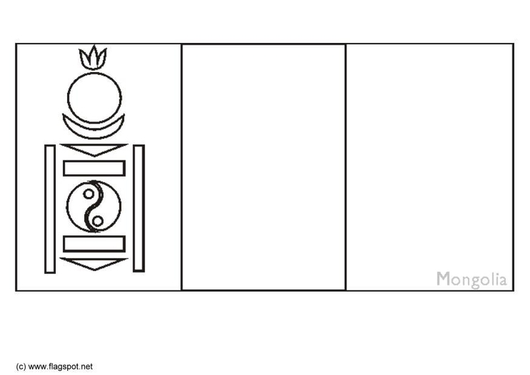 Mongolia Flag Coloring Page Auromas