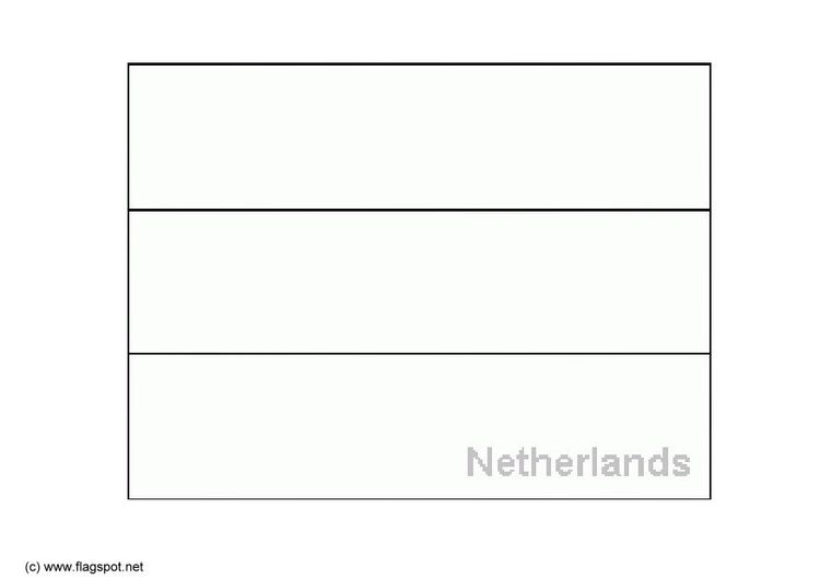 Coloring page flag Netherlands