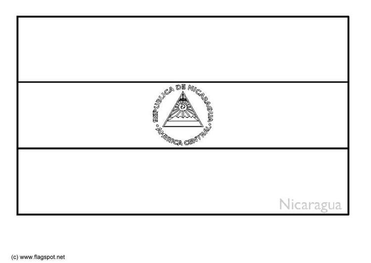 Coloring Page Flag Nicaragua Img 6358
