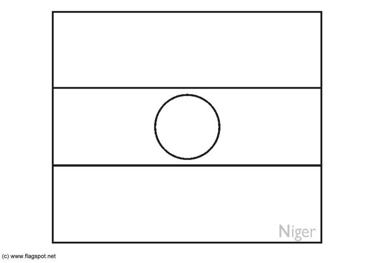 Coloring page flag Niger