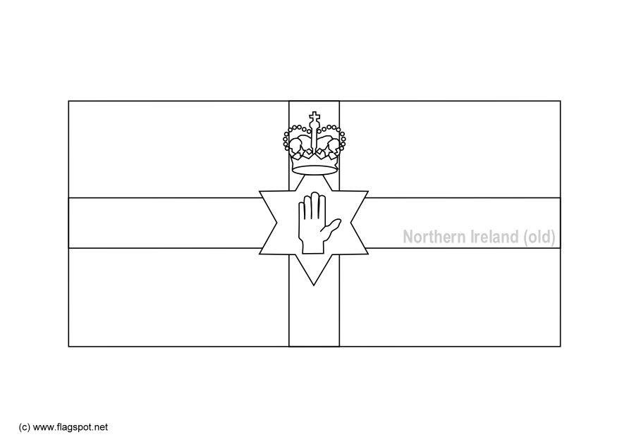 coloring page flag northern ireland old img 6156