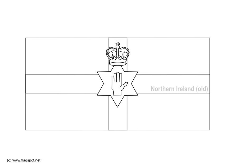 Coloring page flag Northern Ireland (old)