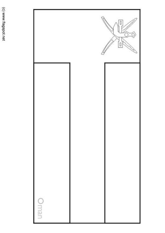 Oman Flag Coloring Page Img 6302