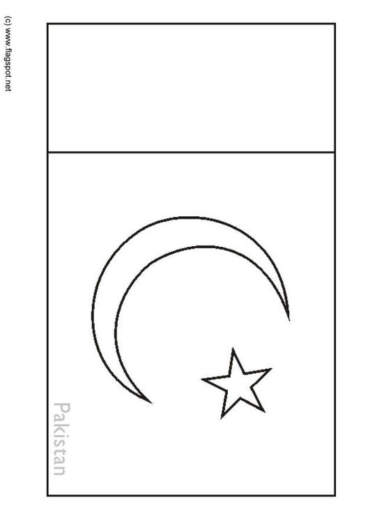 Coloring Page Flag Pakistan Img 6303