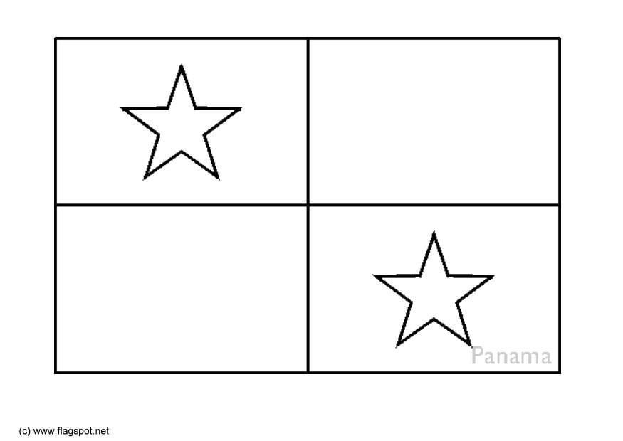 coloring page flag panama img