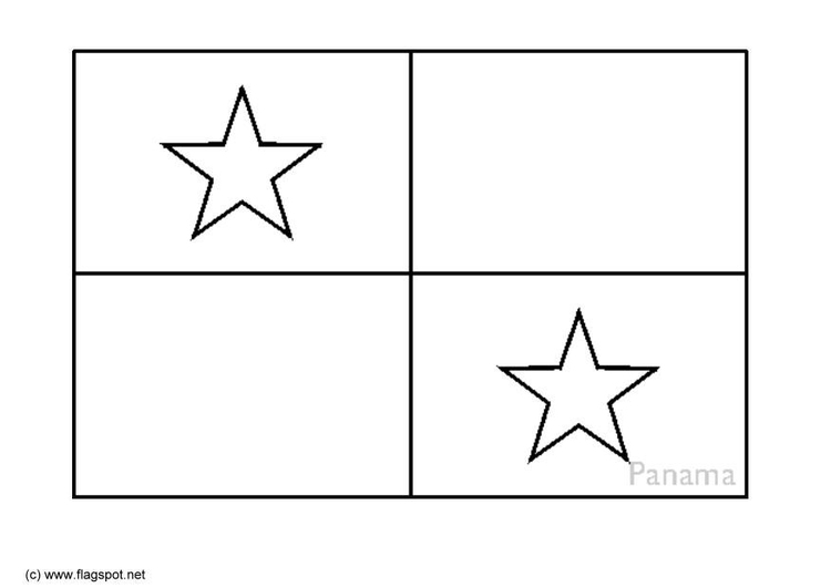 Coloring page flag Panama