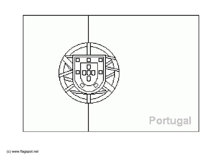 coloring page flag portugal