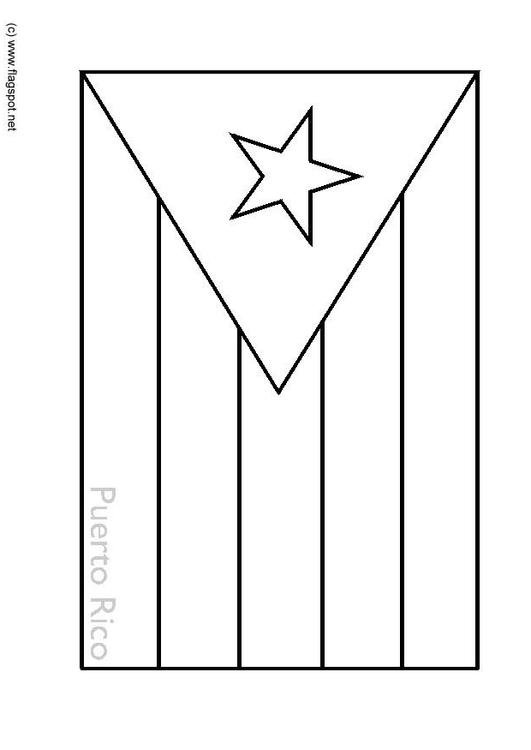 Coloring page flag Puerto Rico - img 6340.