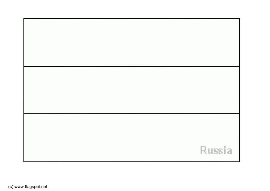 download large image - Russian Flag Coloring Page