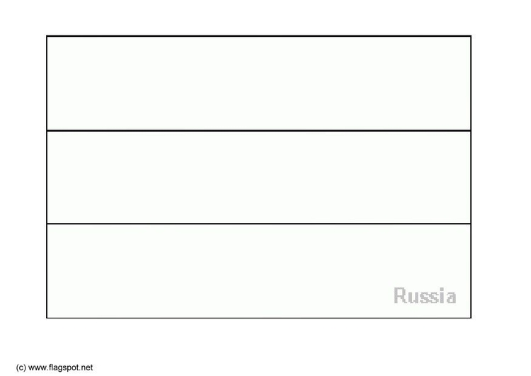 Coloring page flag Russia