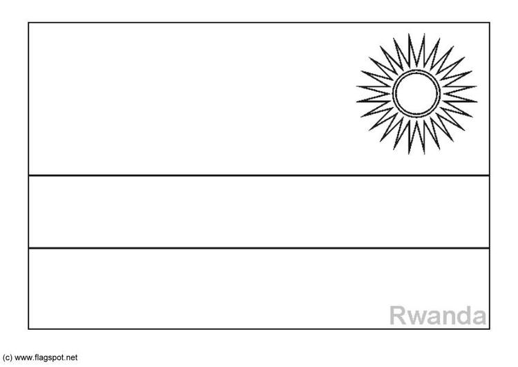 Coloring Page Flag Rwanda