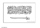 Coloring page flag Saudi Arabia