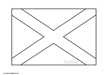 Coloring page flag Scotland