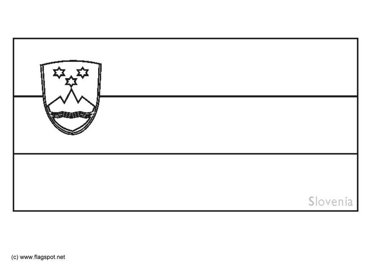 Coloring page flag Slovenia