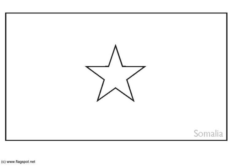 Coloring Page Flag Somalia Img 6258