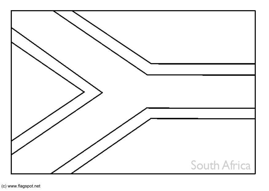 Coloring page flag south africa img 6268 for Africa flag coloring page