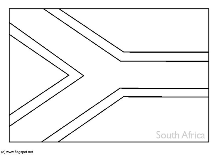 Coloring page flag South Africa