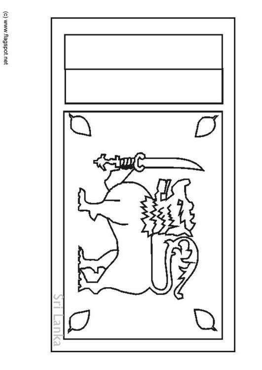 Coloring Page Flag Sri Lanka Img 6309