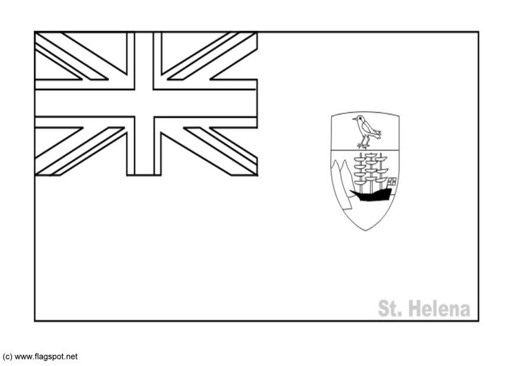 Coloring page flag St Helena