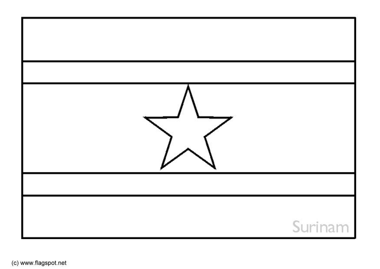 Coloring page flag Suriname