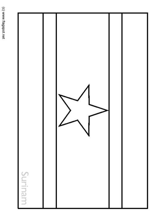coloring page flag suriname img 6361