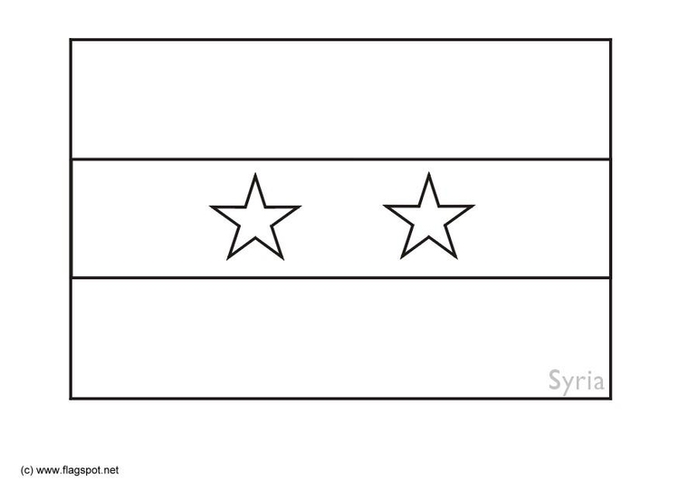 Coloring page flag Syria