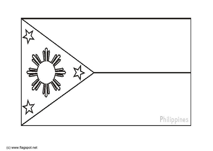 Coloring page flag the Philipines