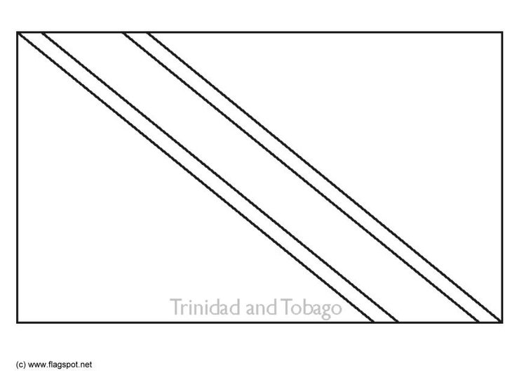 Coloring page flag Trinidad and Tobago