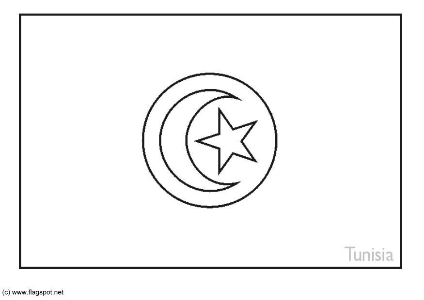 Coloring Page Flag Tunisia Img 6264