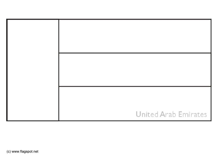 Coloring page flag United Arab Emerates