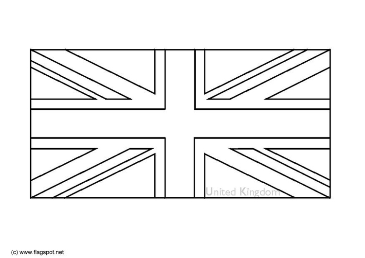 Coloring page flag United Kingdom