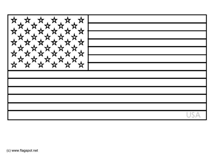 Coloring Page Flag USA - Free Printable Coloring Pages