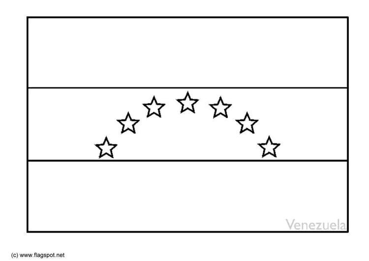 Venezuela Flag Coloring Page
