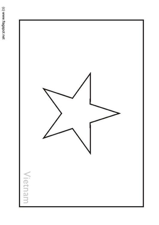 Coloring Page Flag Vietnam