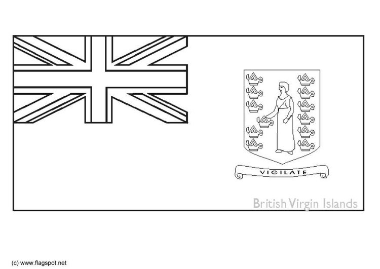 Coloring page flag Virgin Islands UK